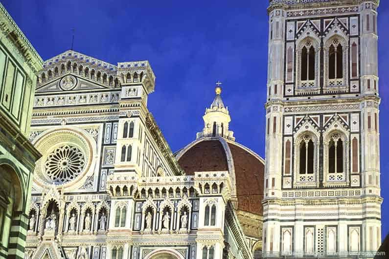 Image of Florence Duomo and Campanile at night