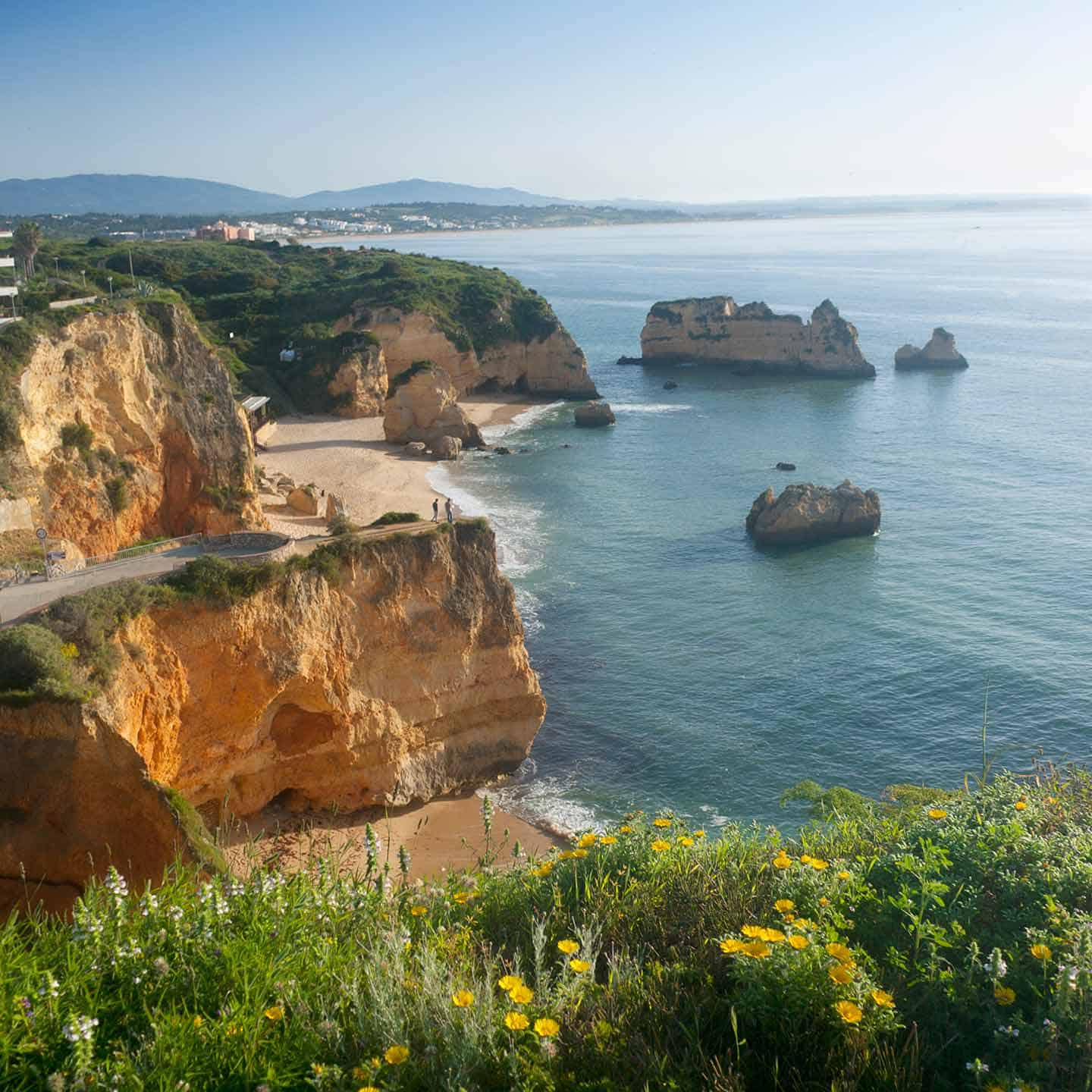 Image of Praia Dona Ana beach in Lagos one of the best resorts on the Algarve