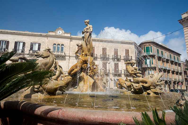 Ortigia Sicily Fountain of Diana
