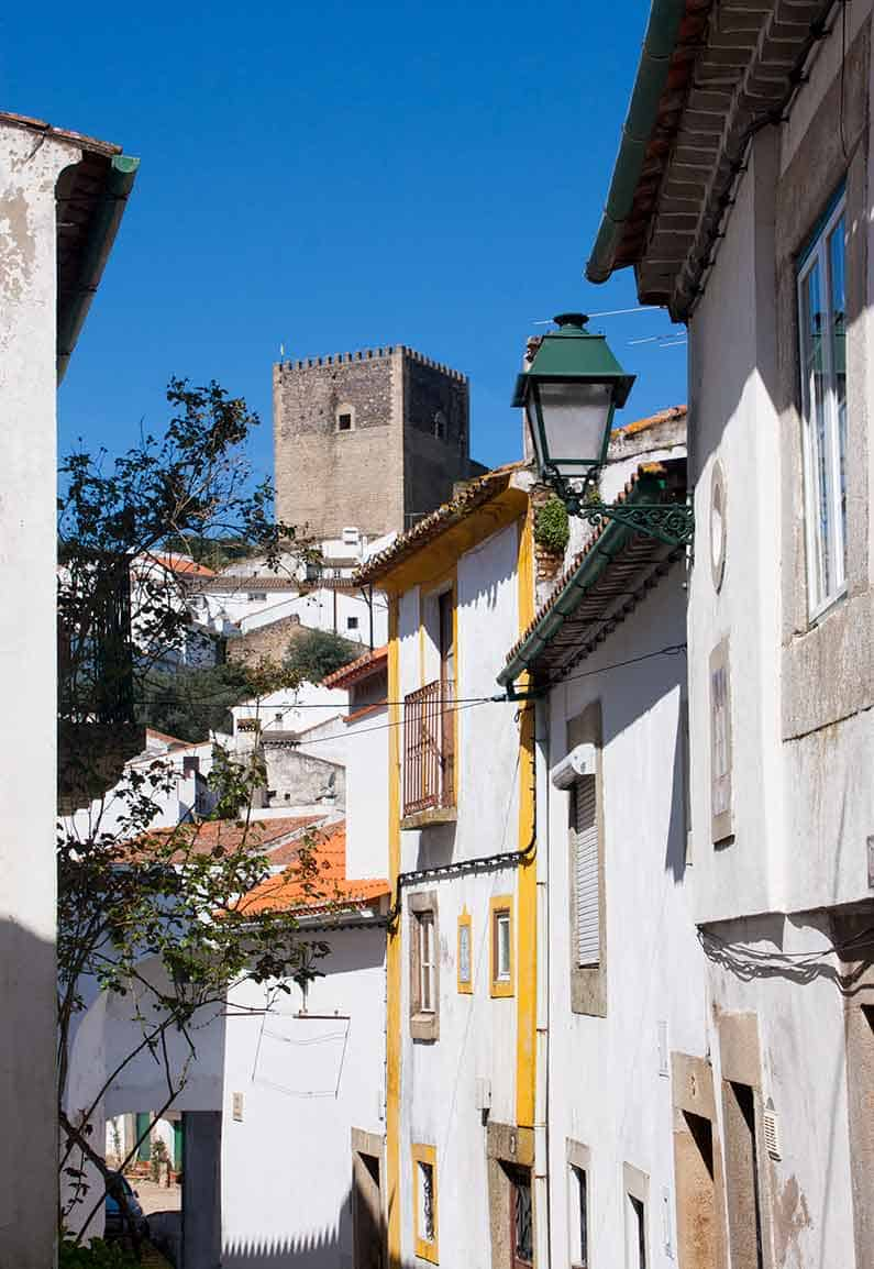 Image of Castelo de Vide street and Castle