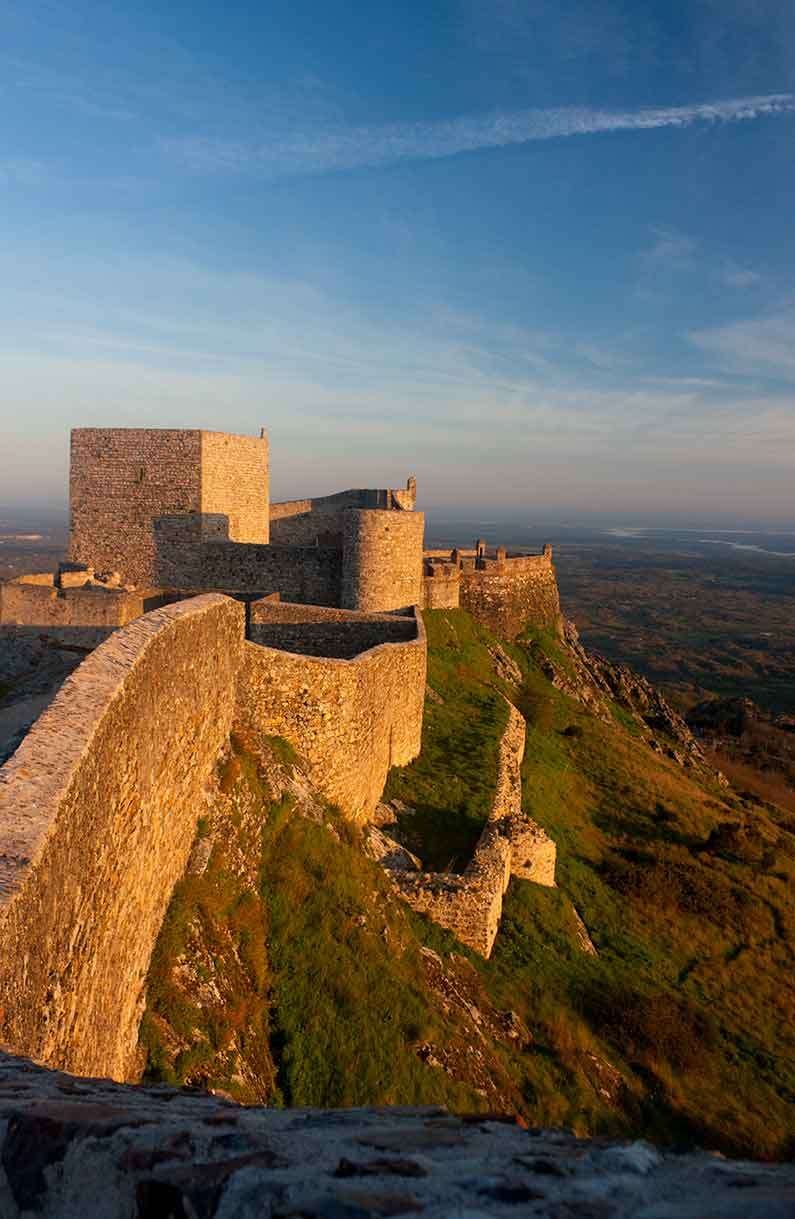 Image of Marvao Castle at sunrise