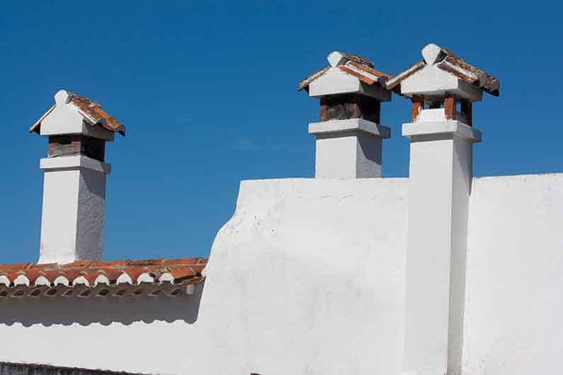 Image of Traditional chimneys in Marvao Portugal