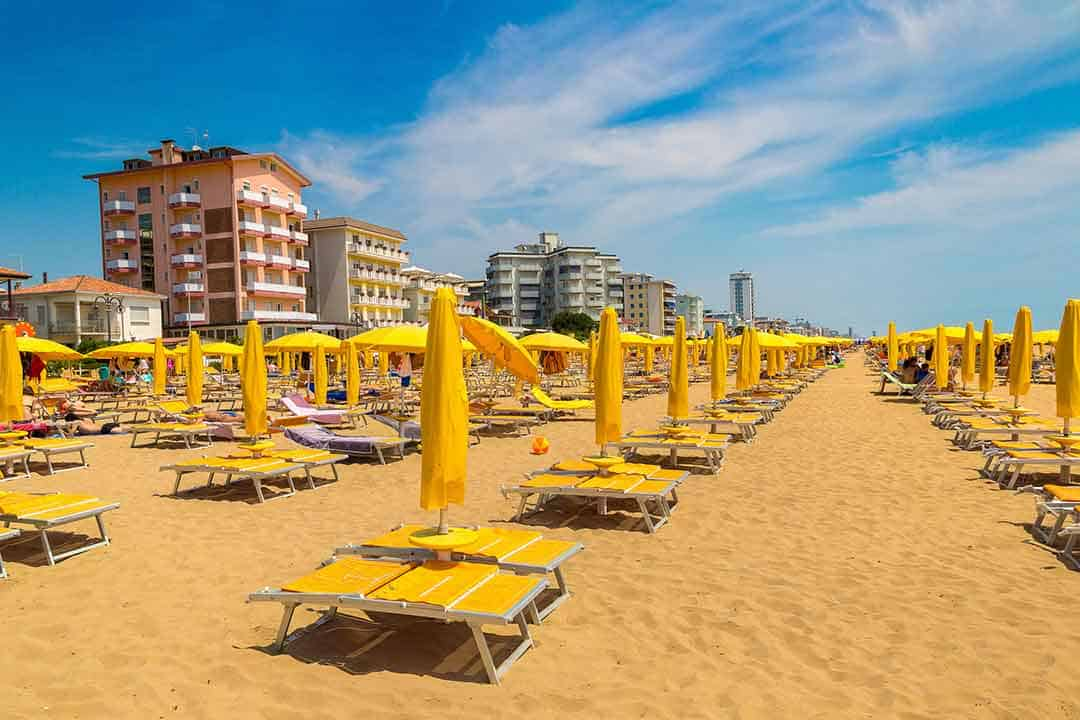 Image of Lido di Jesolo beach near Venice