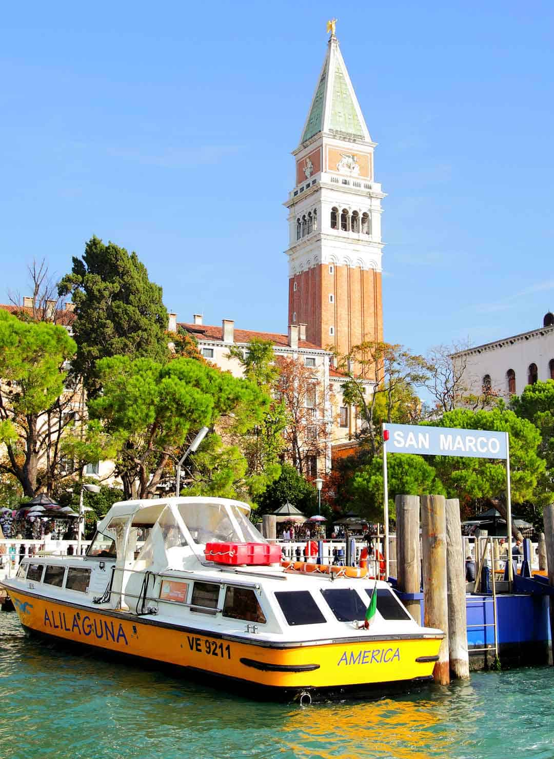 Image of Alilaguna water shuttle in Venice