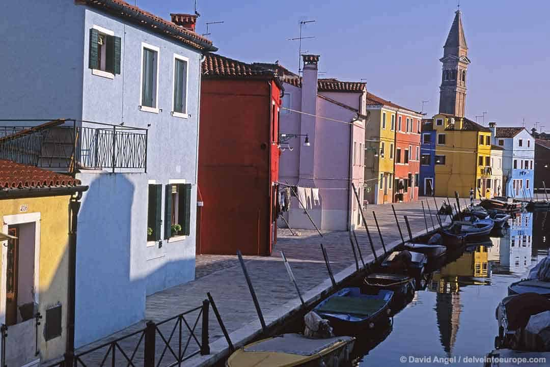 Image of Burano island in the Venetian lagoon
