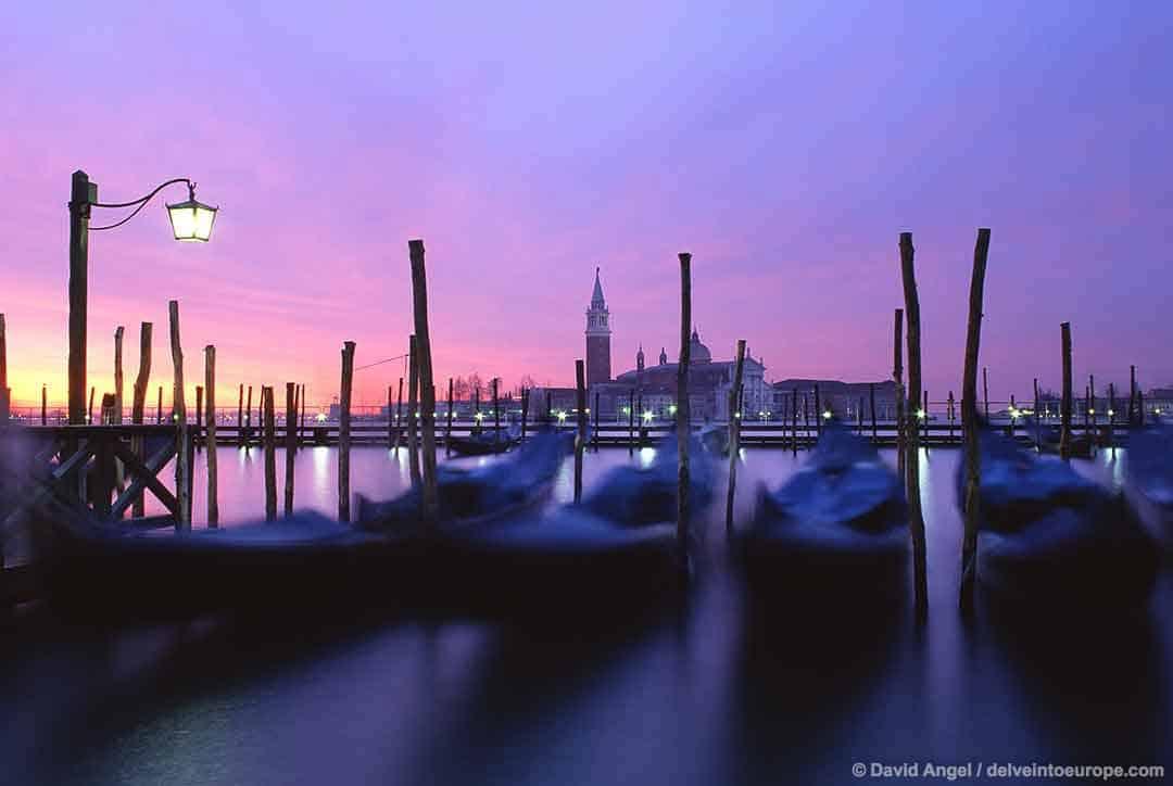 Image of San Giorgio Maggiore at dawn, Venice, Italy