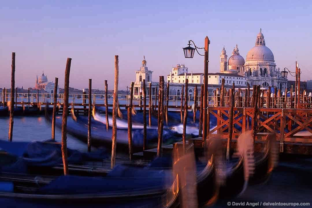 Image of Santa Maria della Salute church, Venice, Italy at sunrise