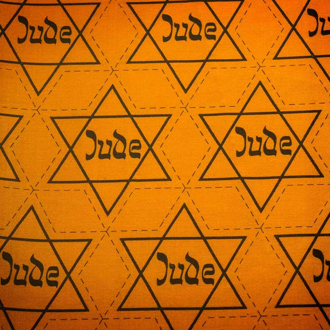 Image of the Jewish yellow star of David which the Nazis forced Jews to wear