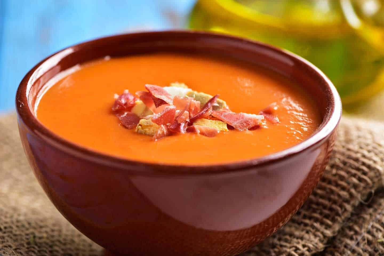 Image of salmorejo dish Cordoba Spain