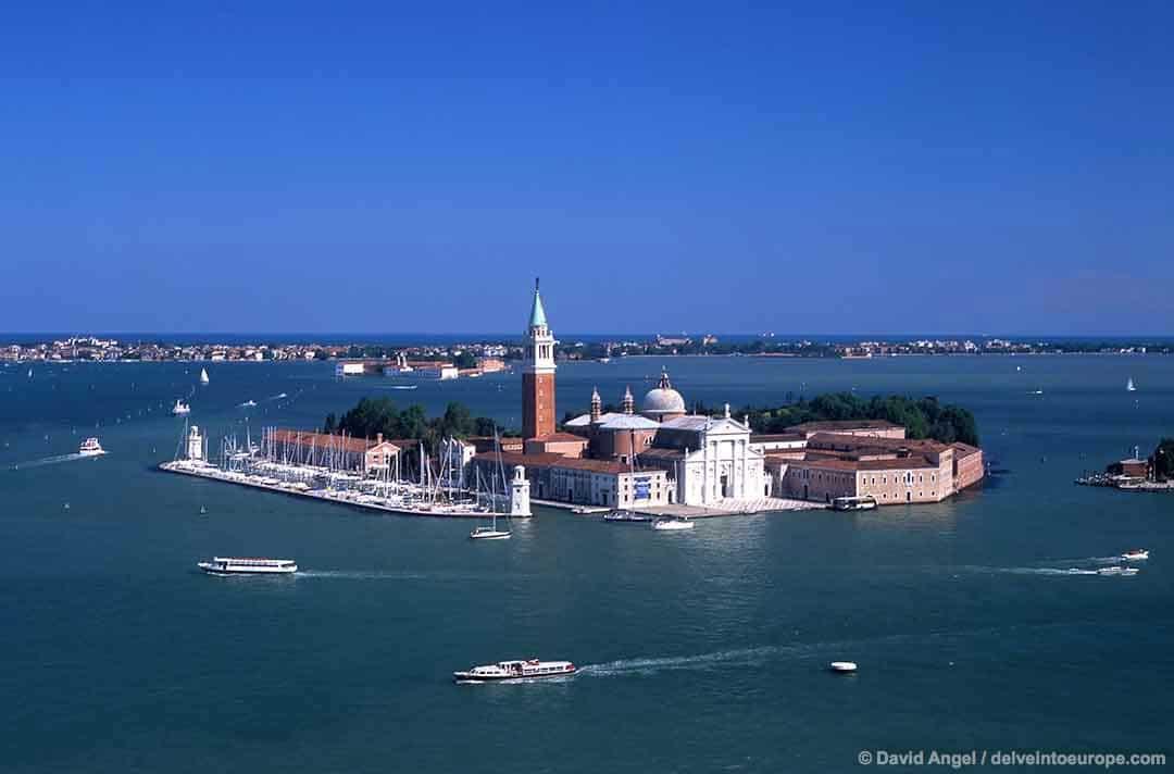 Image of San Giorgio Maggiore from St Mark's campanile Venice Italy