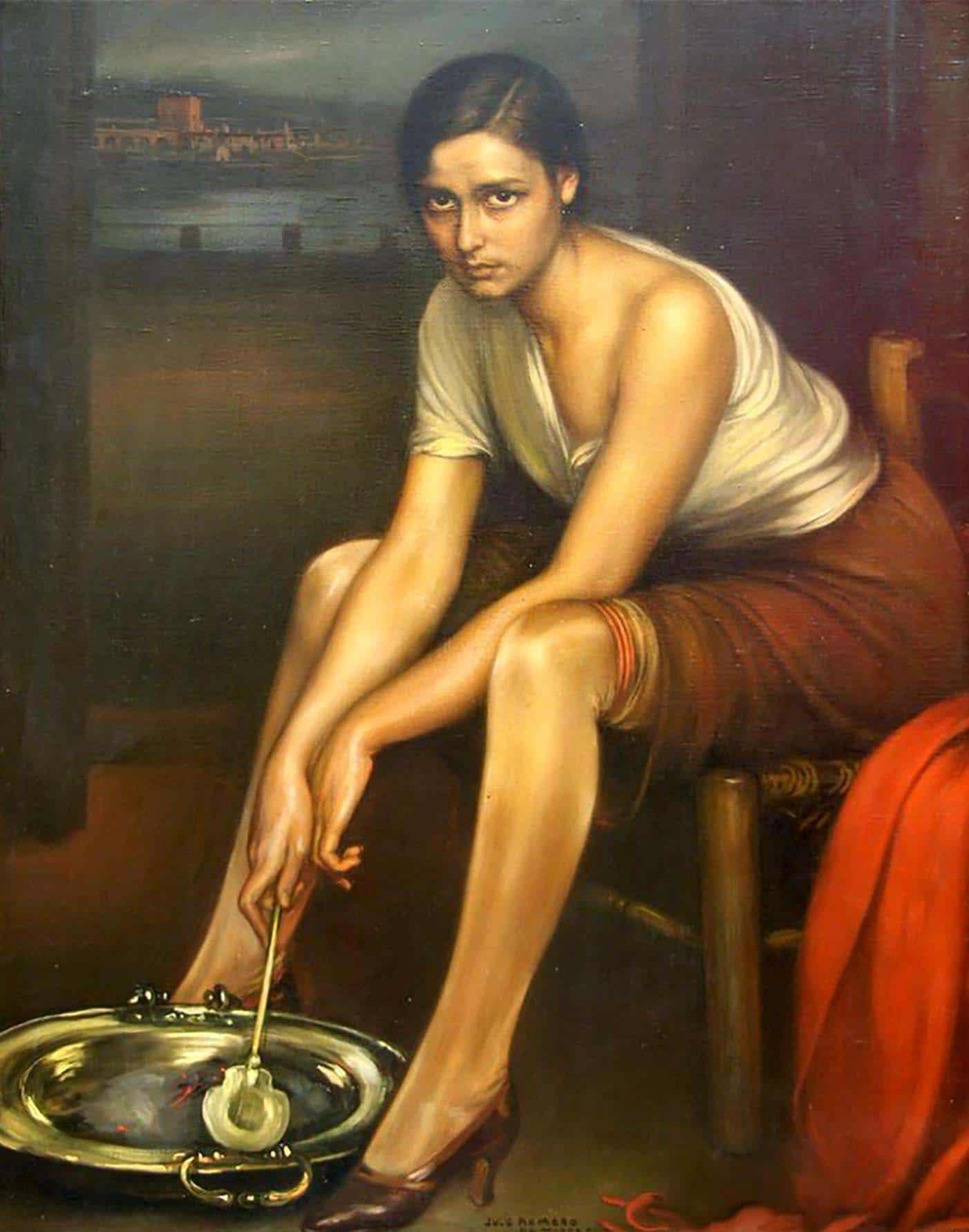 Image of La Chiquita Piconera painting, by Julio Romero de Torres