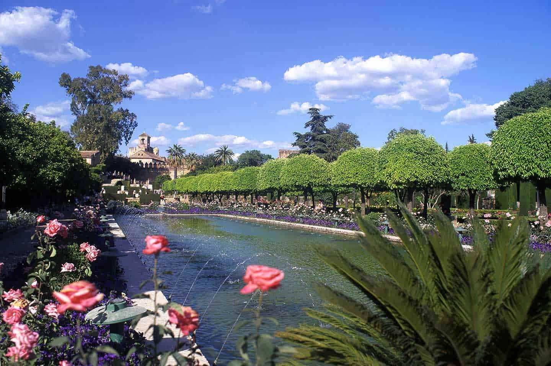Image of gardens at the Alcazar de los Reyes Cristianos Cordoba