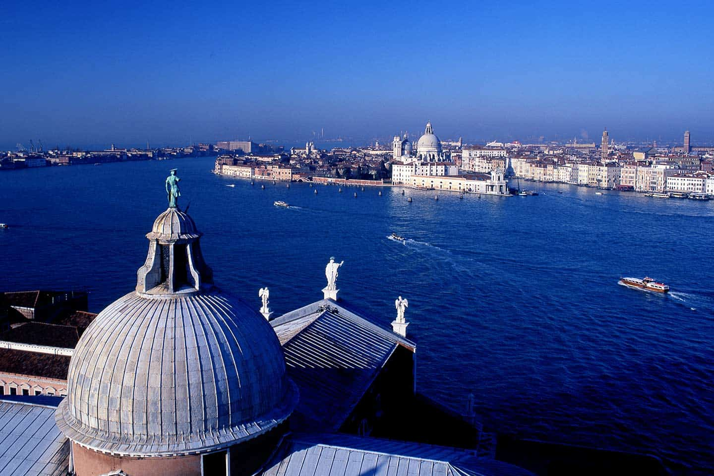 Best things to do in Venice Italy Image of view from San Giorgio Maggiore across lagoon