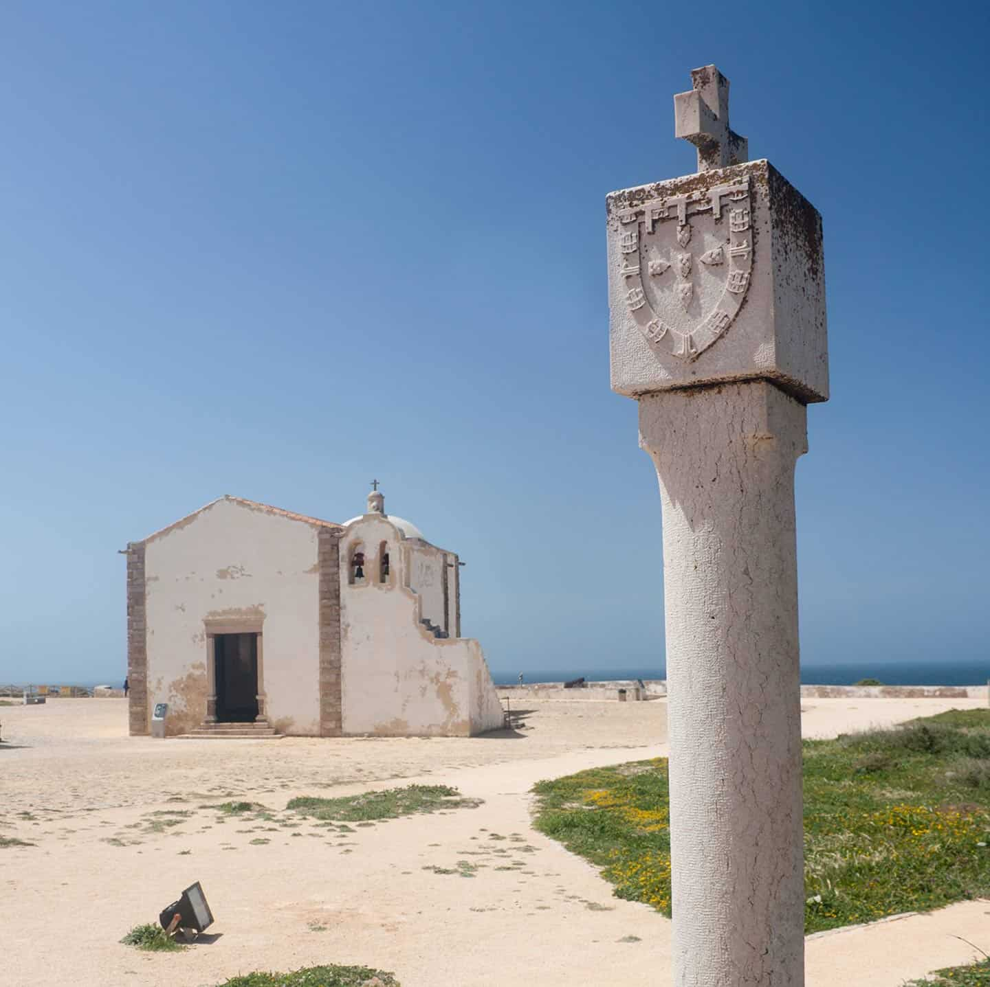 Best area to stay in Algarve Image of Sagres fortress chapel