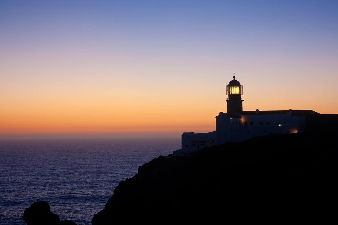 Costa Vicentina Portugal Image of Cape St Vincent lighthouse Algarve Portugal