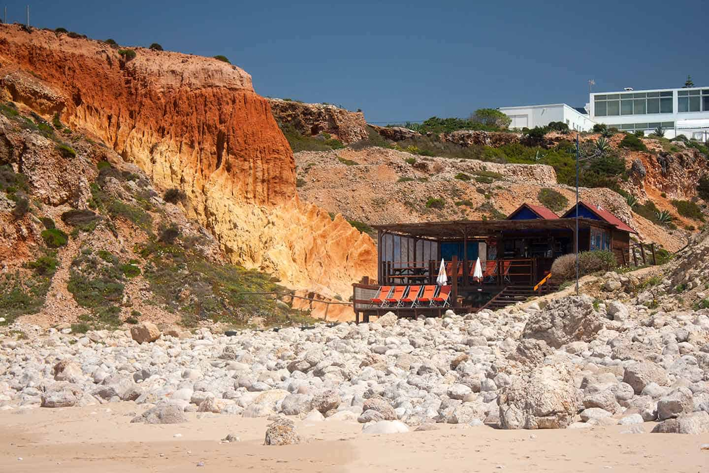 Accommodation Algarve image of beach cafe at Praia do Tonel Sagres