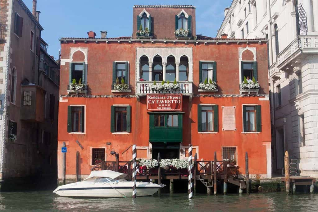 Image of Ca' Favretto Hotel San Cassiano Ca' d'Oro palace on the Grand Canal in Venice Italy