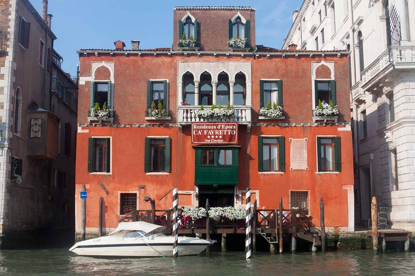 Venice Hotels on the Grand Canal Image of Ca' FAvretto Hotel San Cassiano