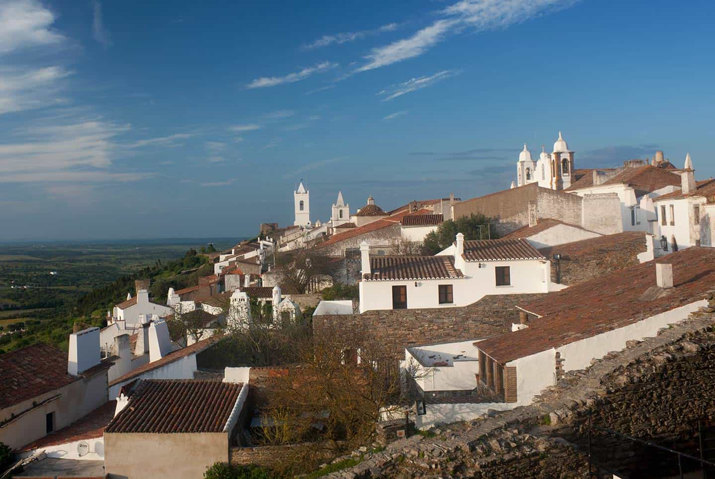 Portugal Tours Alentejo Image of Monsaraz village from castle ramparts