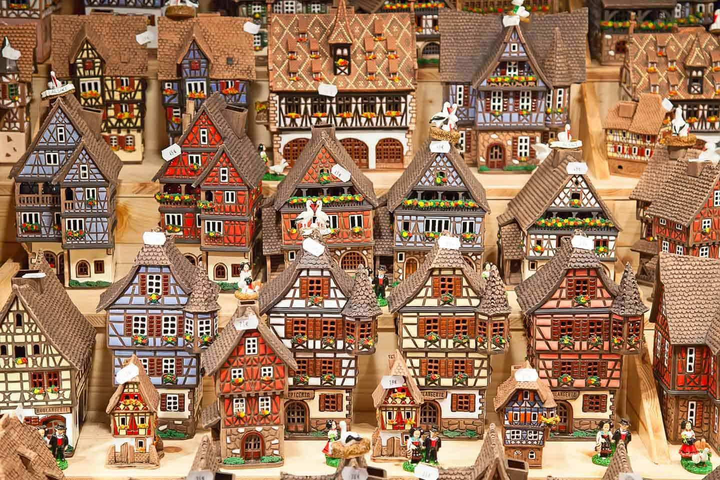 Image of pretty ornamental houses at Cologne Christmas Market
