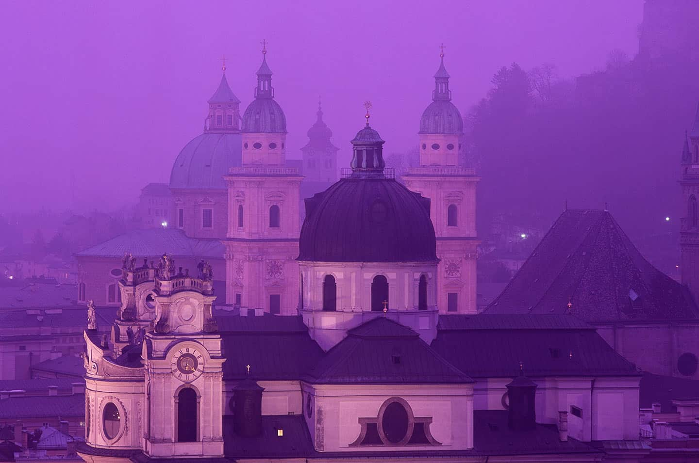 Image of the Baroque skyline of Salzburg