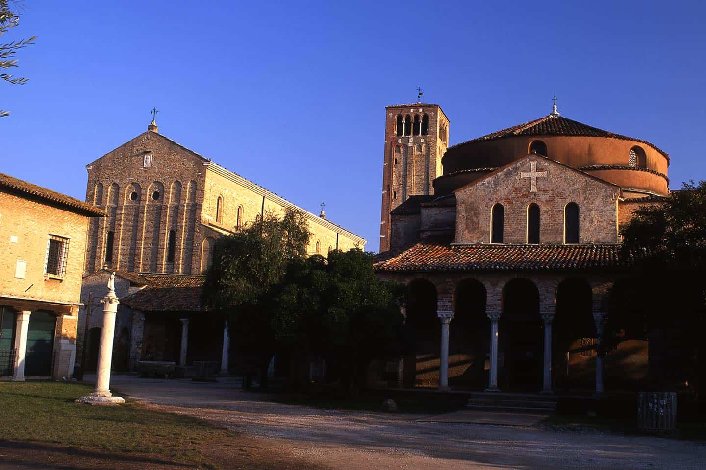 Image of the cathedral and Santa Fosca church on the island of Torcello, Venice