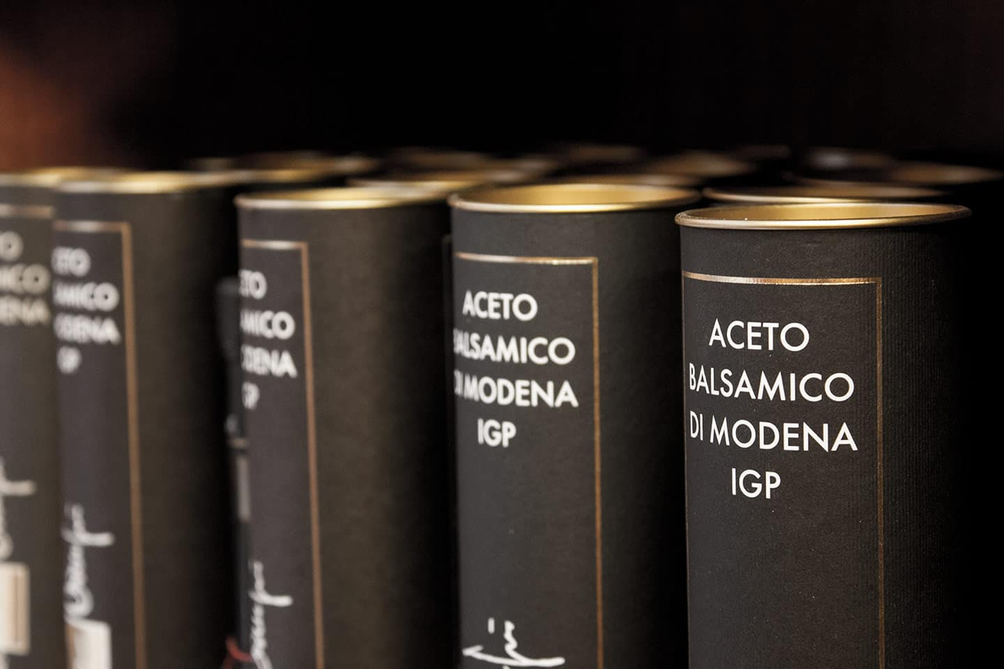 Image of presentation boxes of Balsamic vinegar of Modena