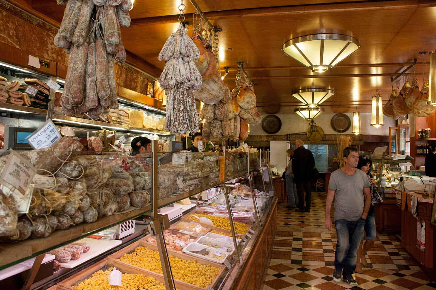 Image of Tamburini shop a traditional Italian delicatessen