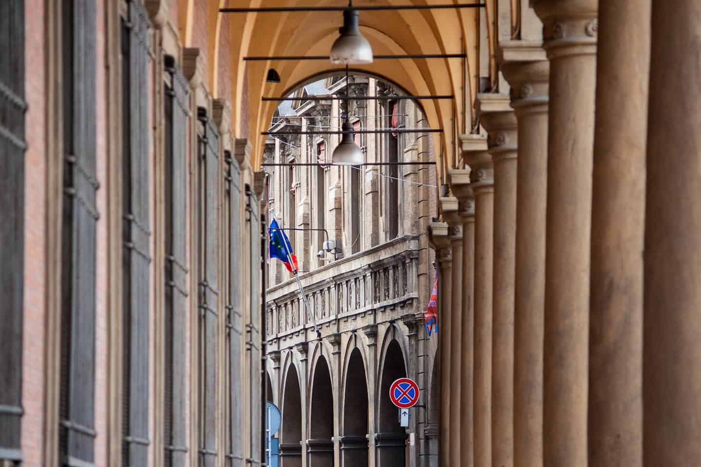 Images of portico or arcade in Bologna Italy