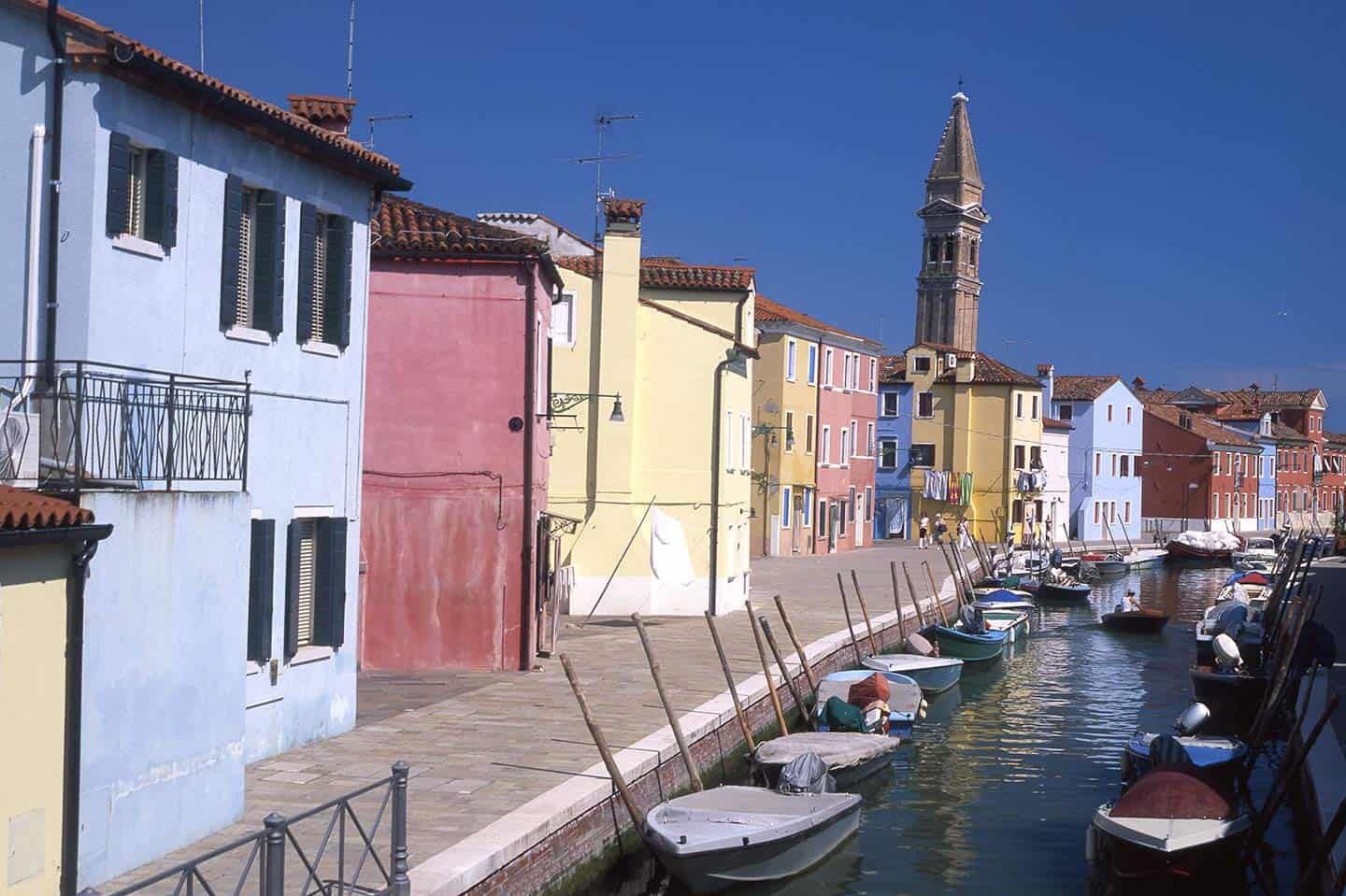 Image of colourful houses on Burano island, Venice