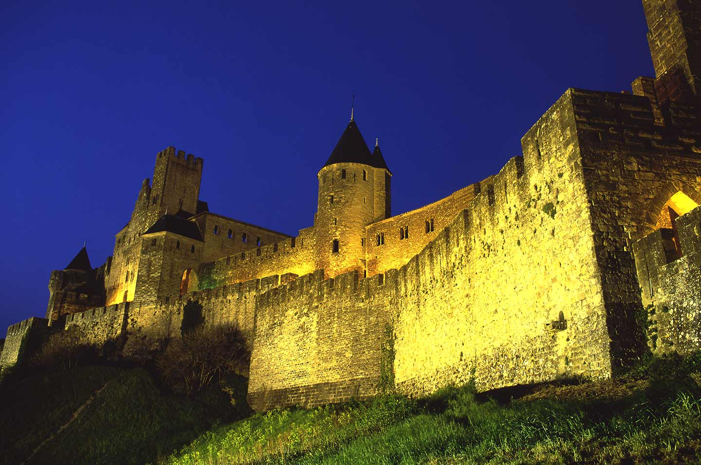 Image of the Cité at Carcassonne at night