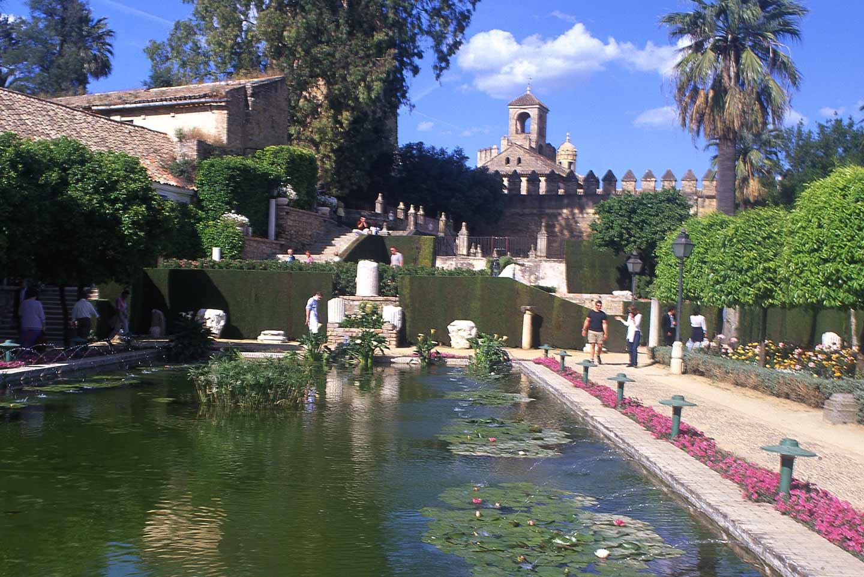 Image of the gardens of the Alcazar de los Reyes Cristianos, Cordoba