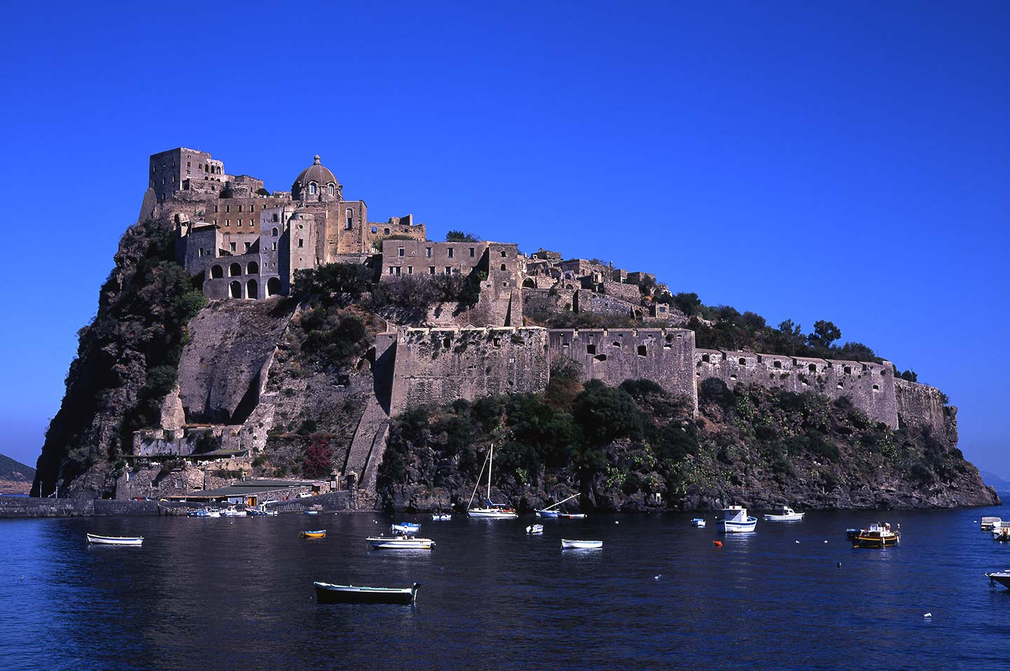 Image of the Castello Aragonese in Ischia, Italy
