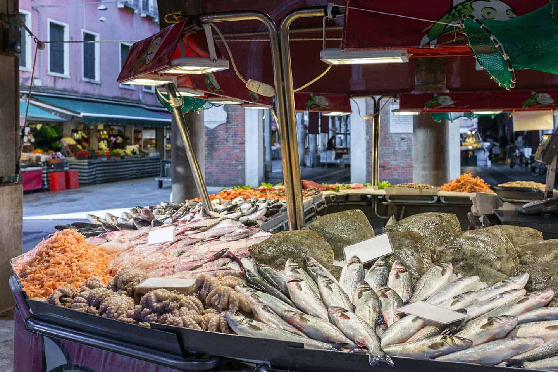 Image of Rialto fish market Venice
