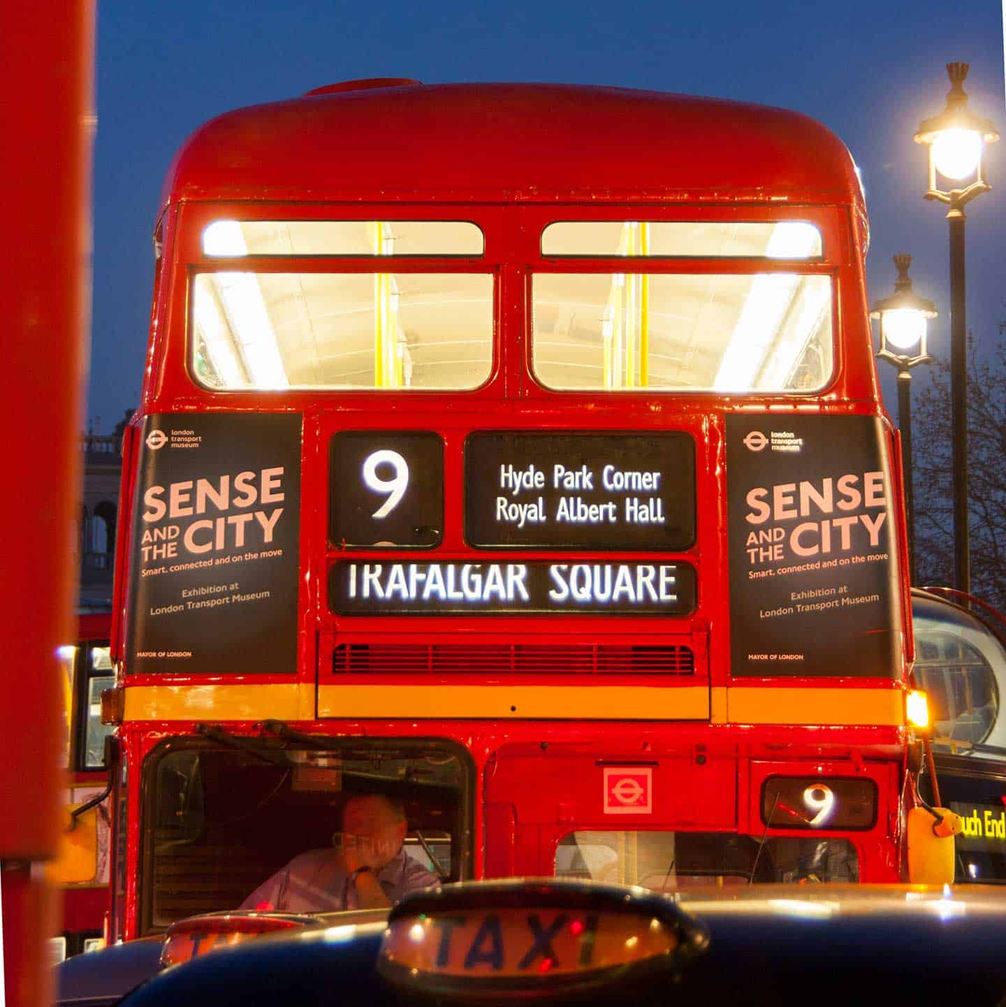 Image of a traditional Routemaster bus in London