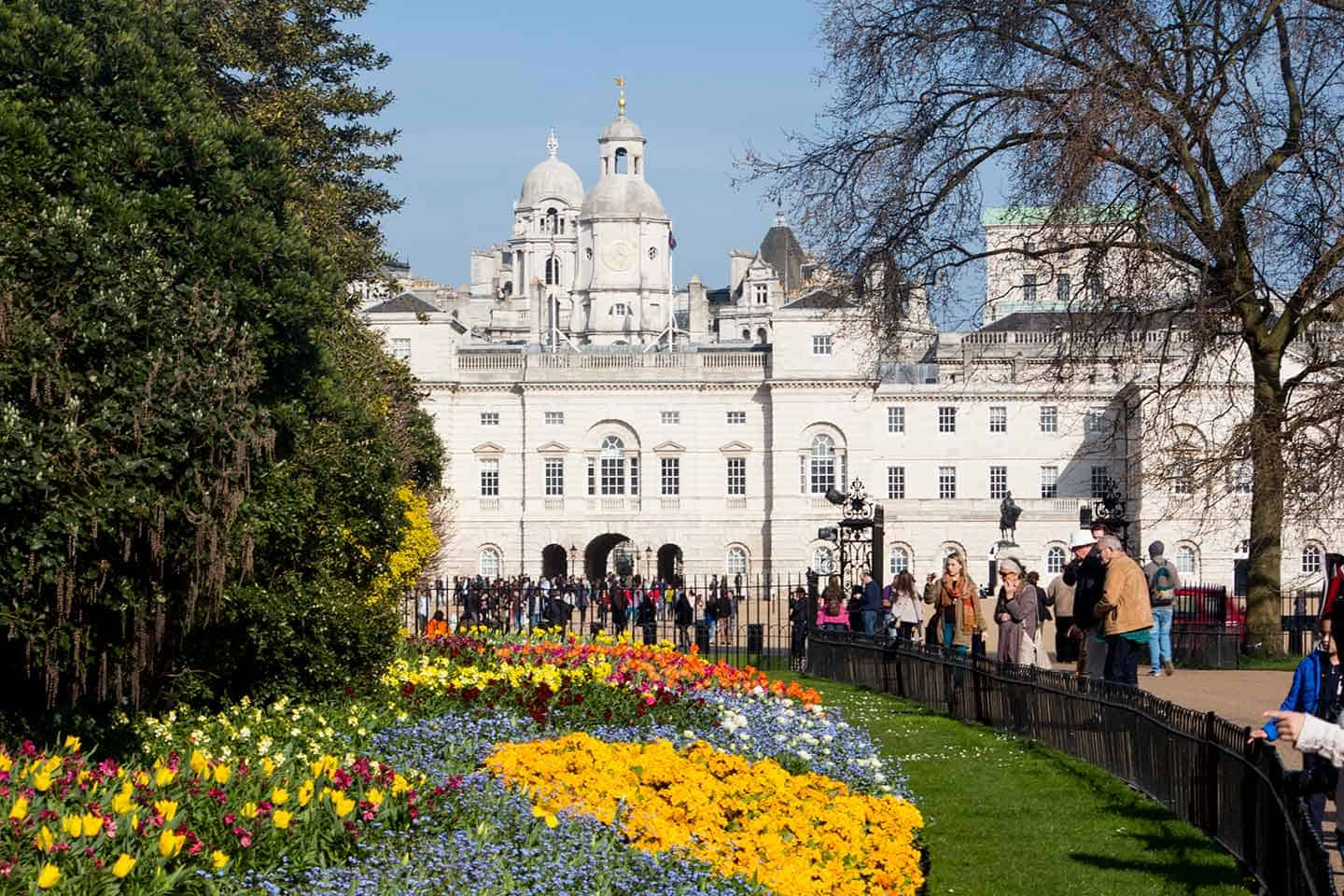 Image of St James's Park and the buildings of Horseguards Parade