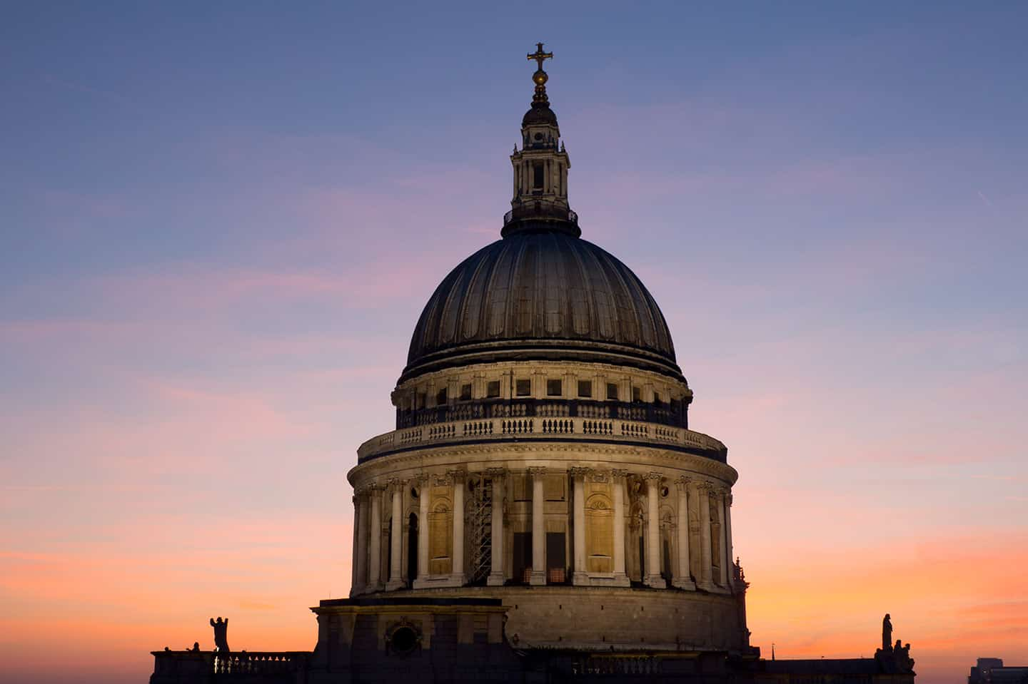 London for free Image of St Paul's Cathedral dome from the rooftop of One New Change
