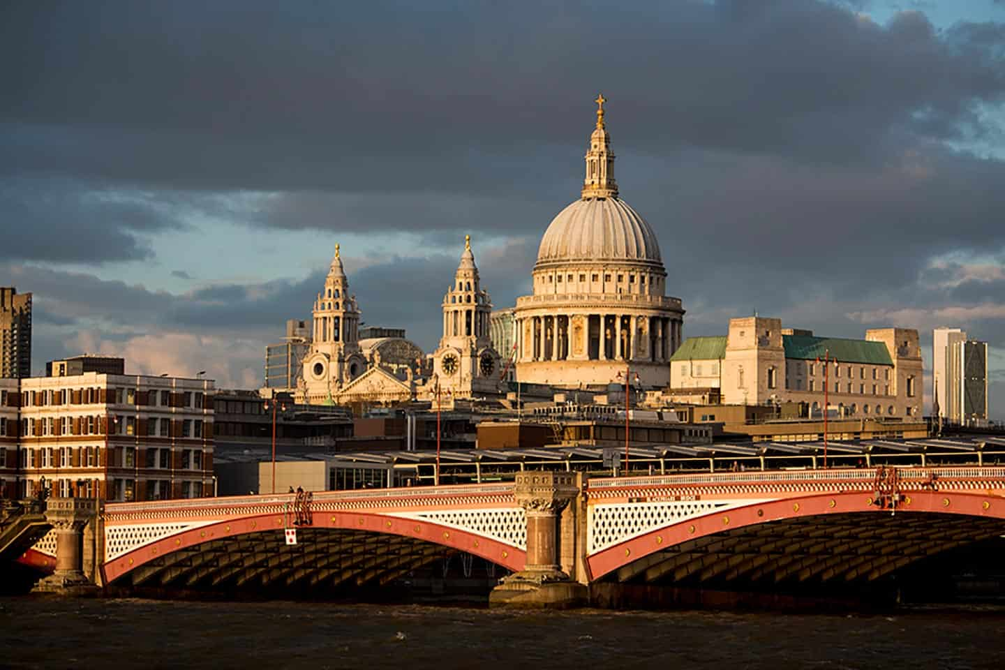 Image of St Paul's Cathedral and Blackfriars Bridge from the South Bank, London