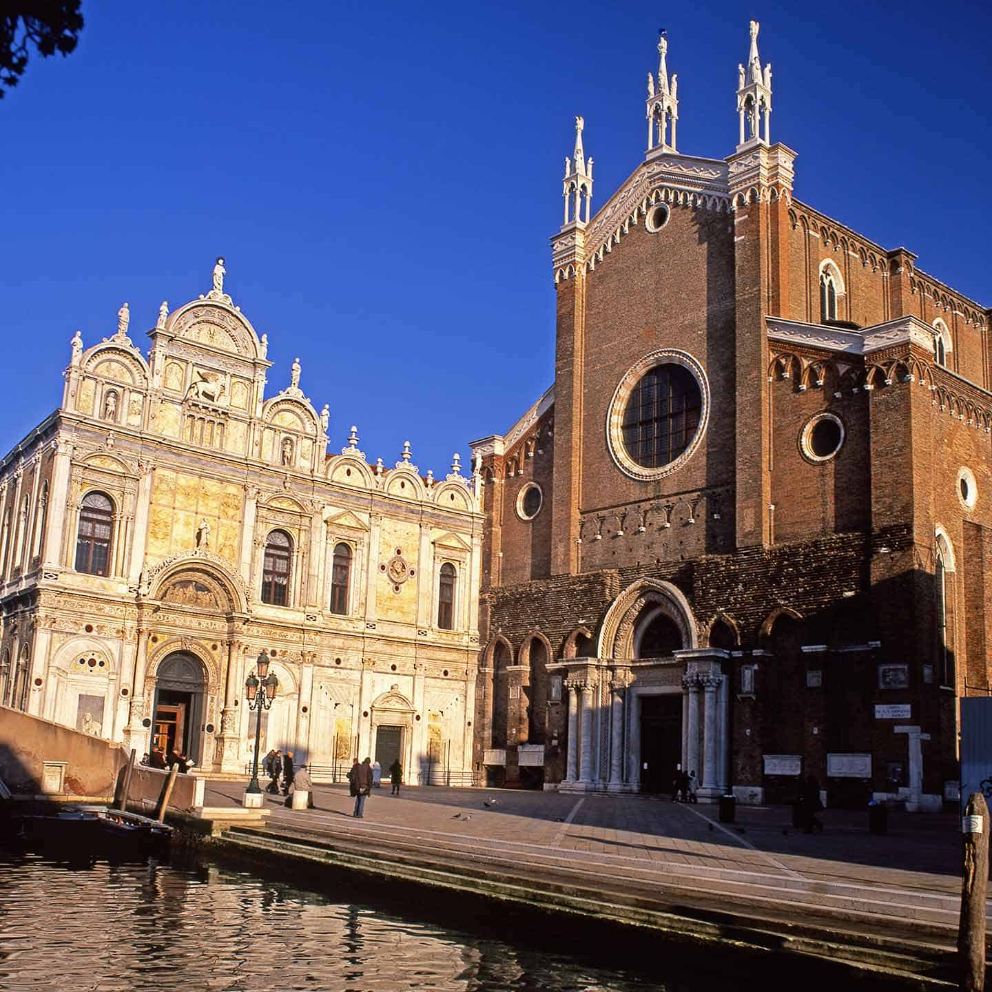 Churches in Venice Italy Image of the Basilica of San Zanipolo