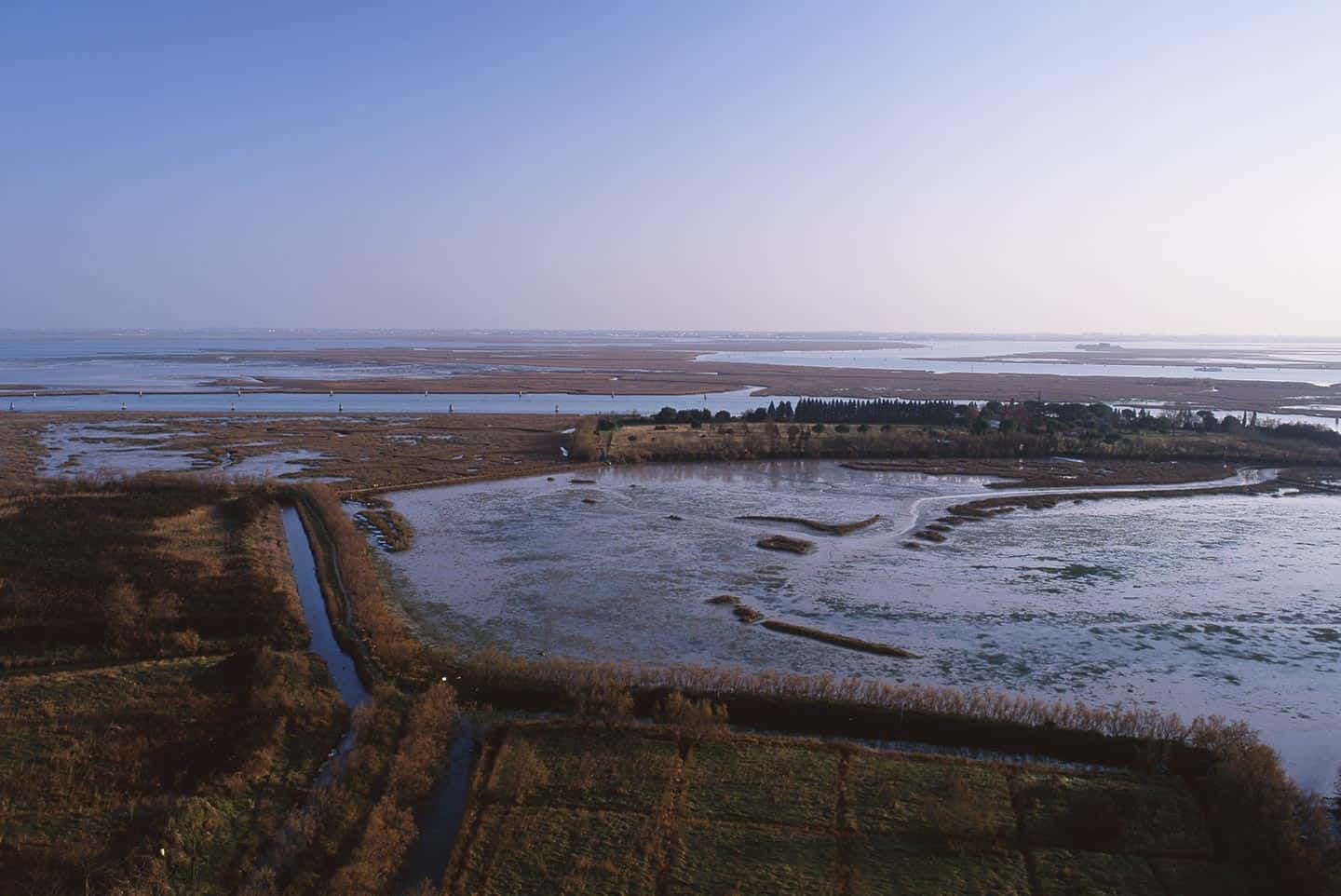 Image of the Venetian lagoon landscape from Torcello