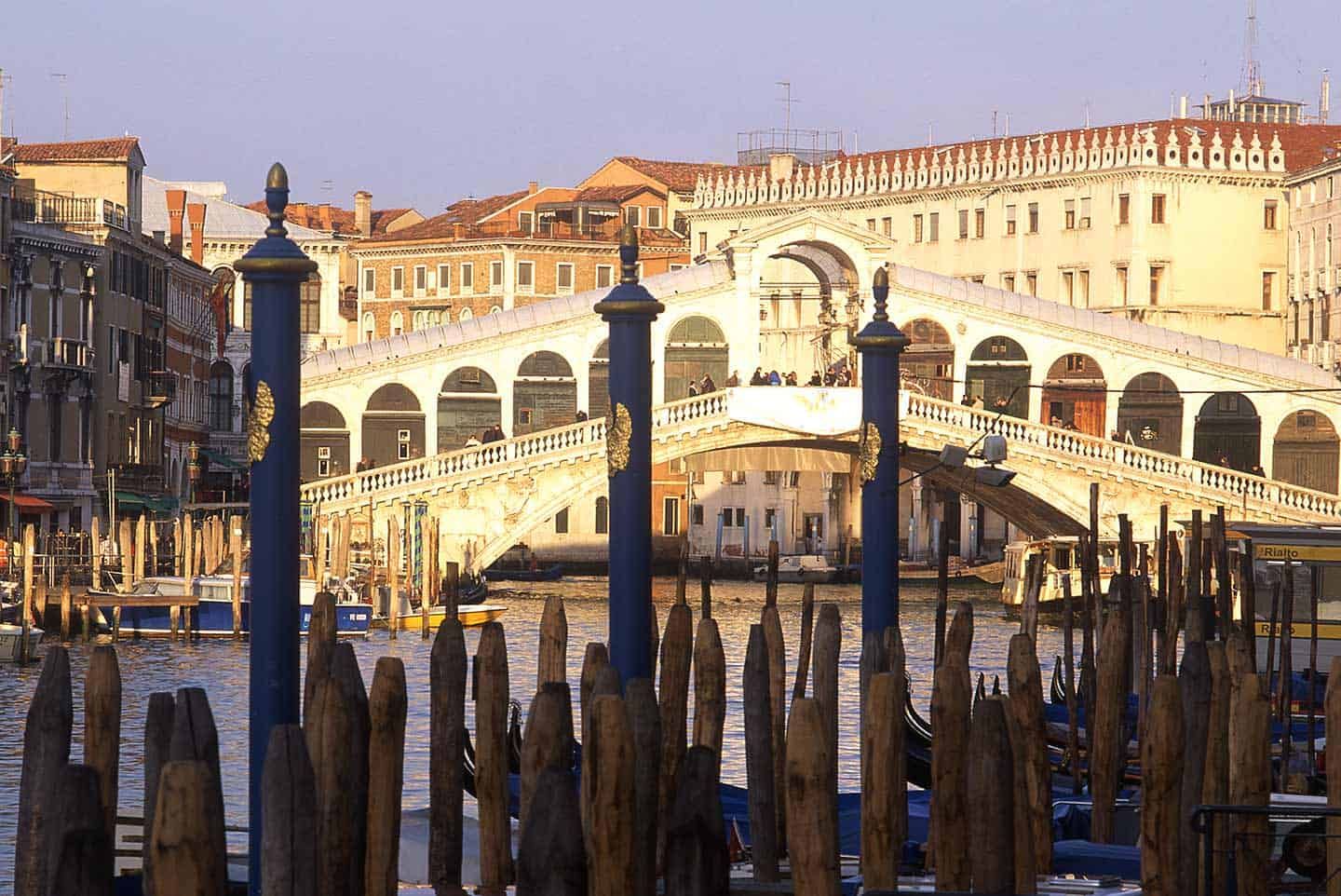 Image of the Rialto Bridge one of the top things in Venice to visit