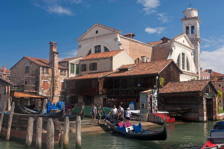 Image of the Squero di San Trovaso boatyard, Venice