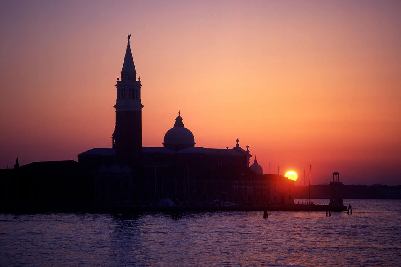 Venice 3 days Image of San Giorgio Maggiore at sunset