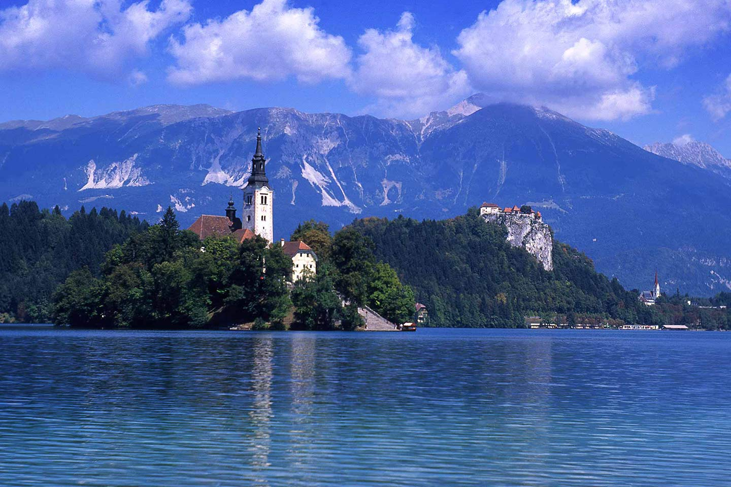 Image of Lake Bled Slovenia one of the most beautiful places in Europe