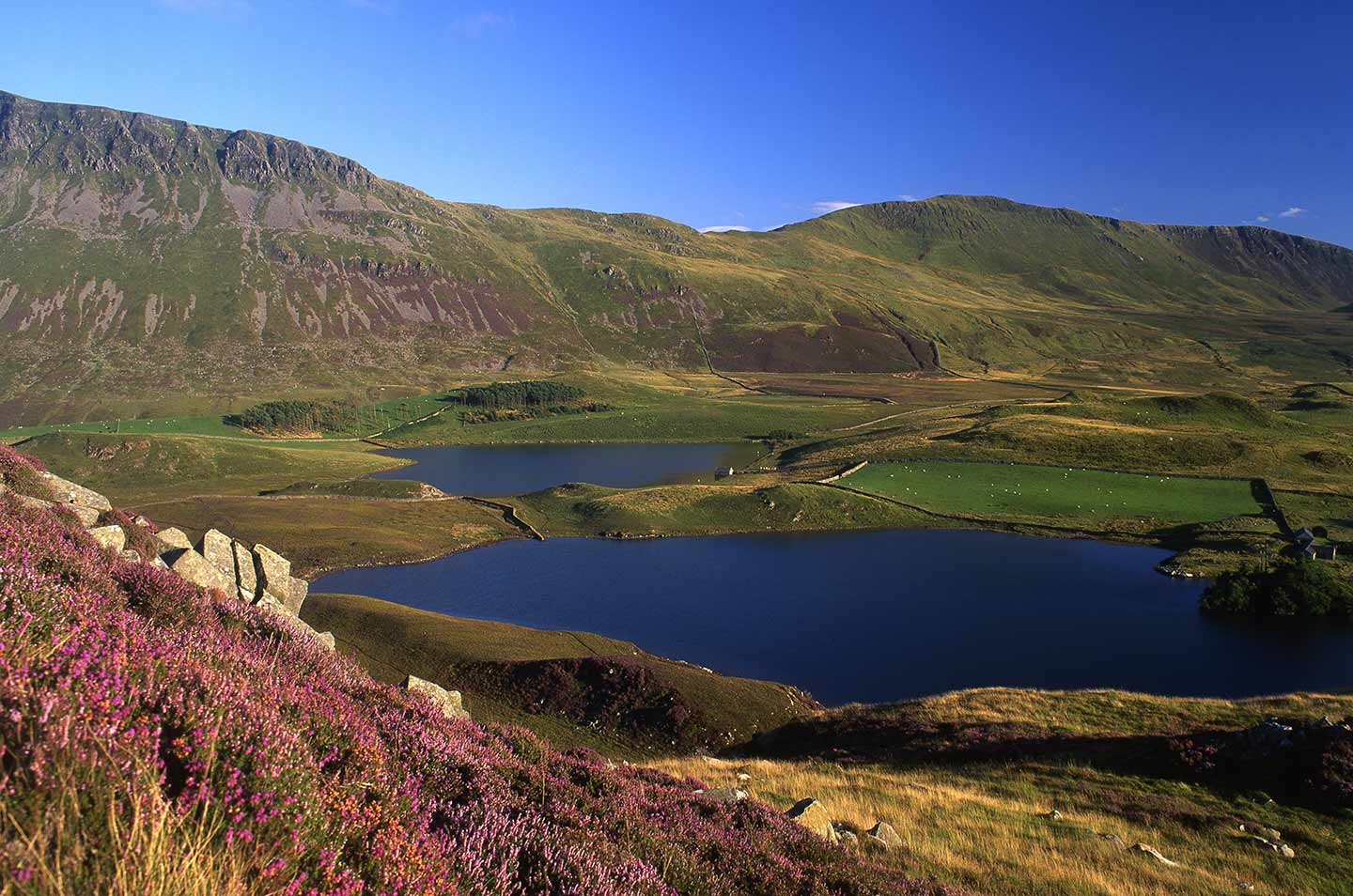 Image of the Cregennen Lakes in southern Snowdonia, Wales