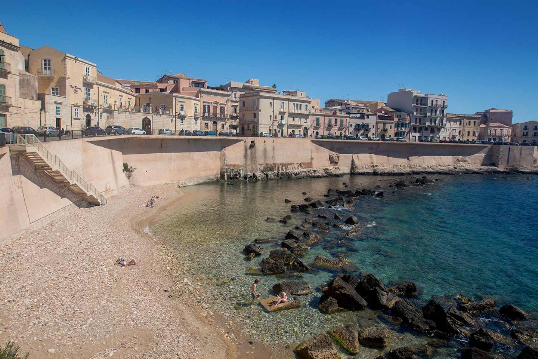 Image of Cala Rossa beach, Ortigia, Syracuse, Sicily
