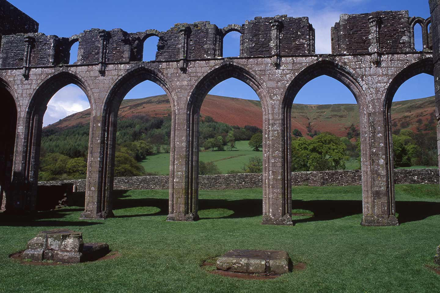 Image of Llanthony Priory church ruin in Wales