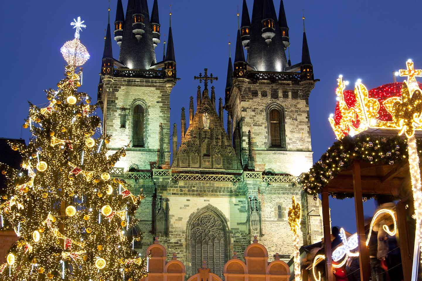 Image of The Church of Our Lady Before Týn and Prague Christmas Market