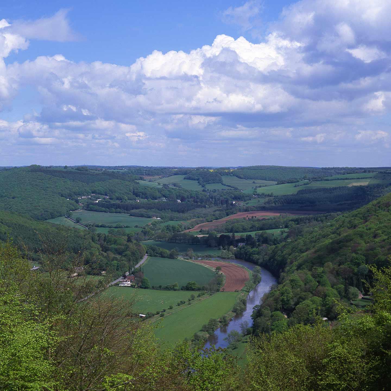 Image of the Wye Valley at Llandogo, Wales