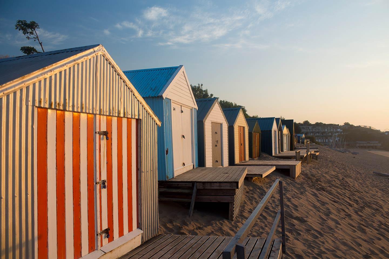 Image of beach huts at Abersoch
